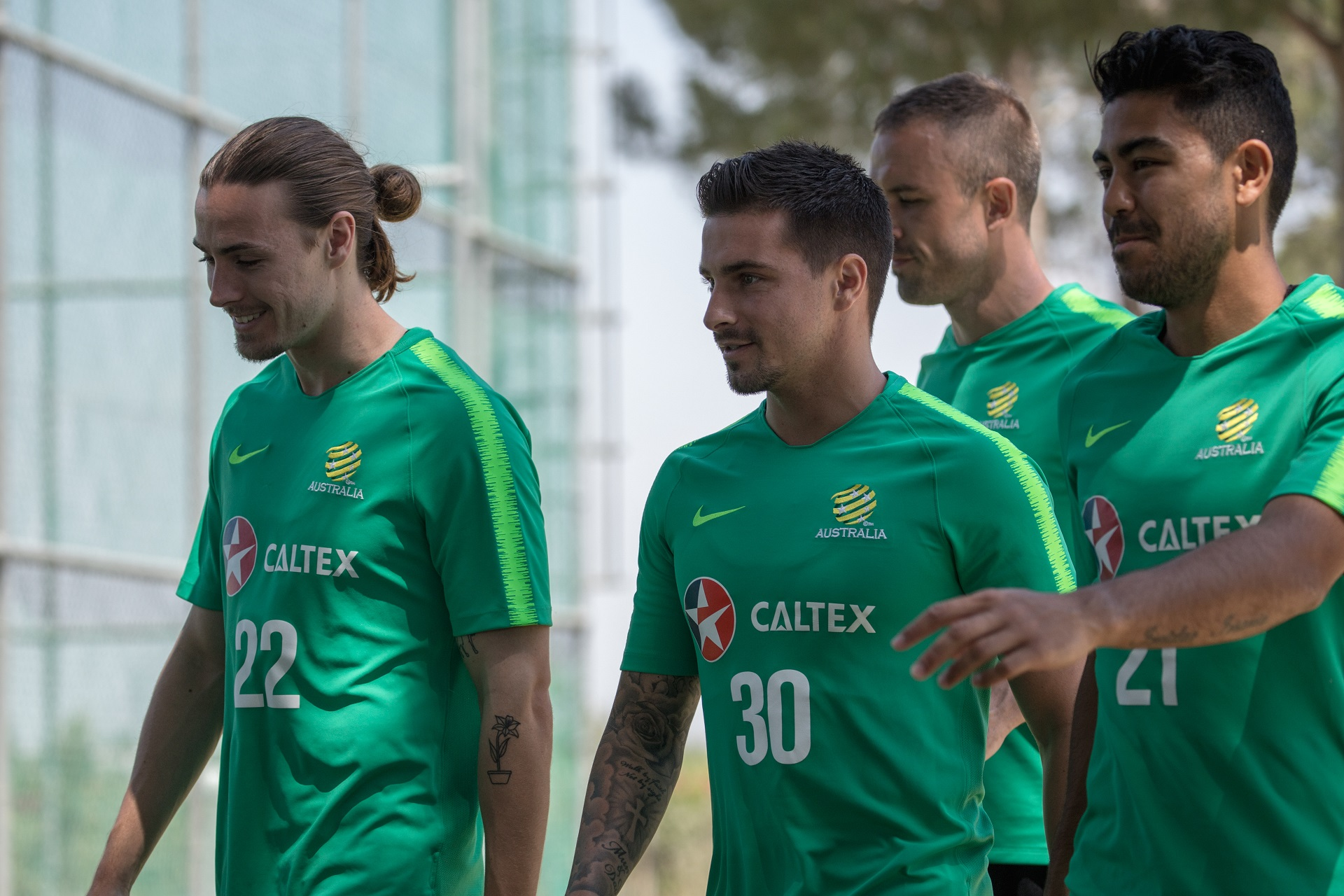Jamie Maclaren arrived and trained on Monday