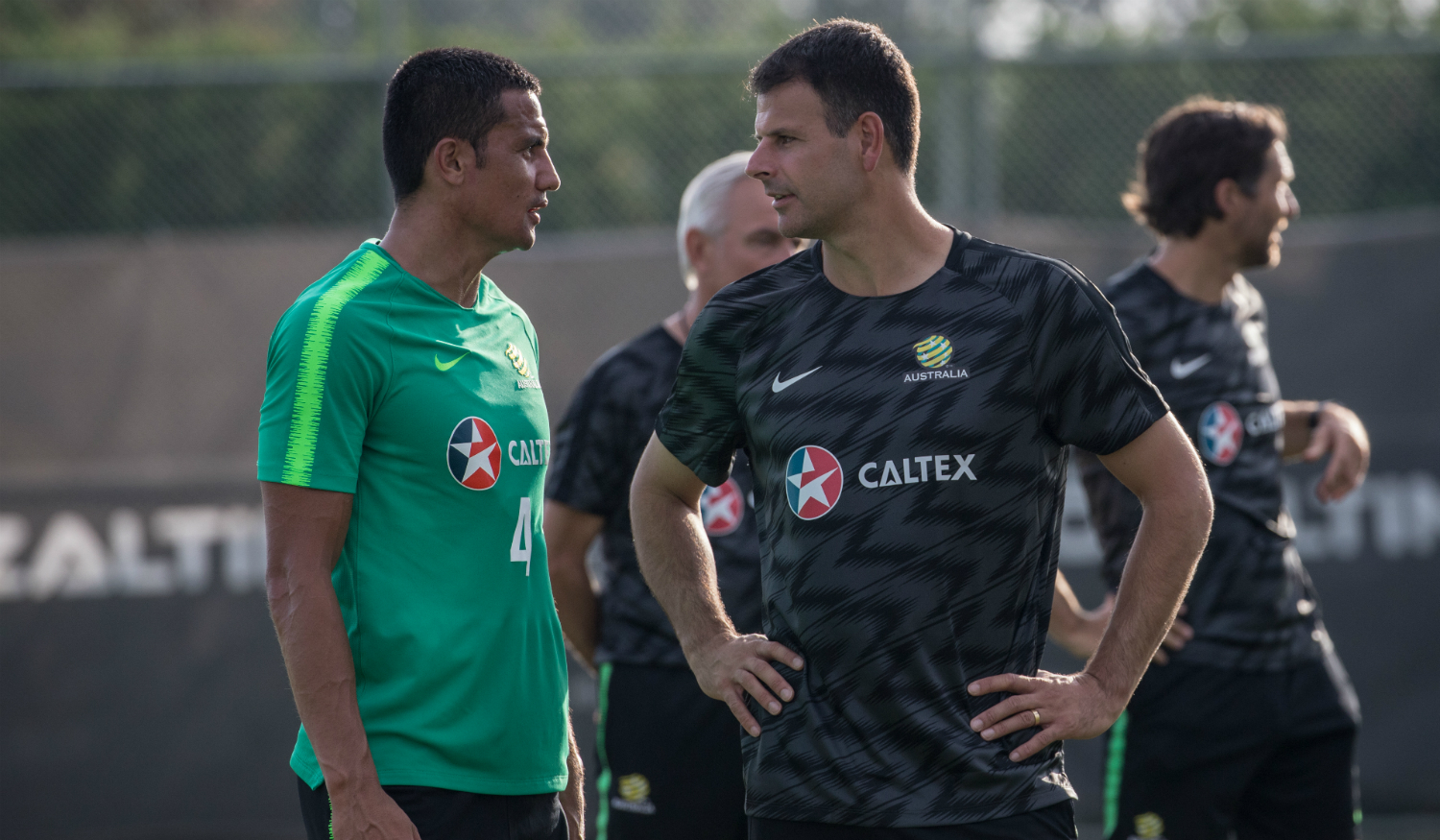 Tim Cahill and Mile Sterjovski