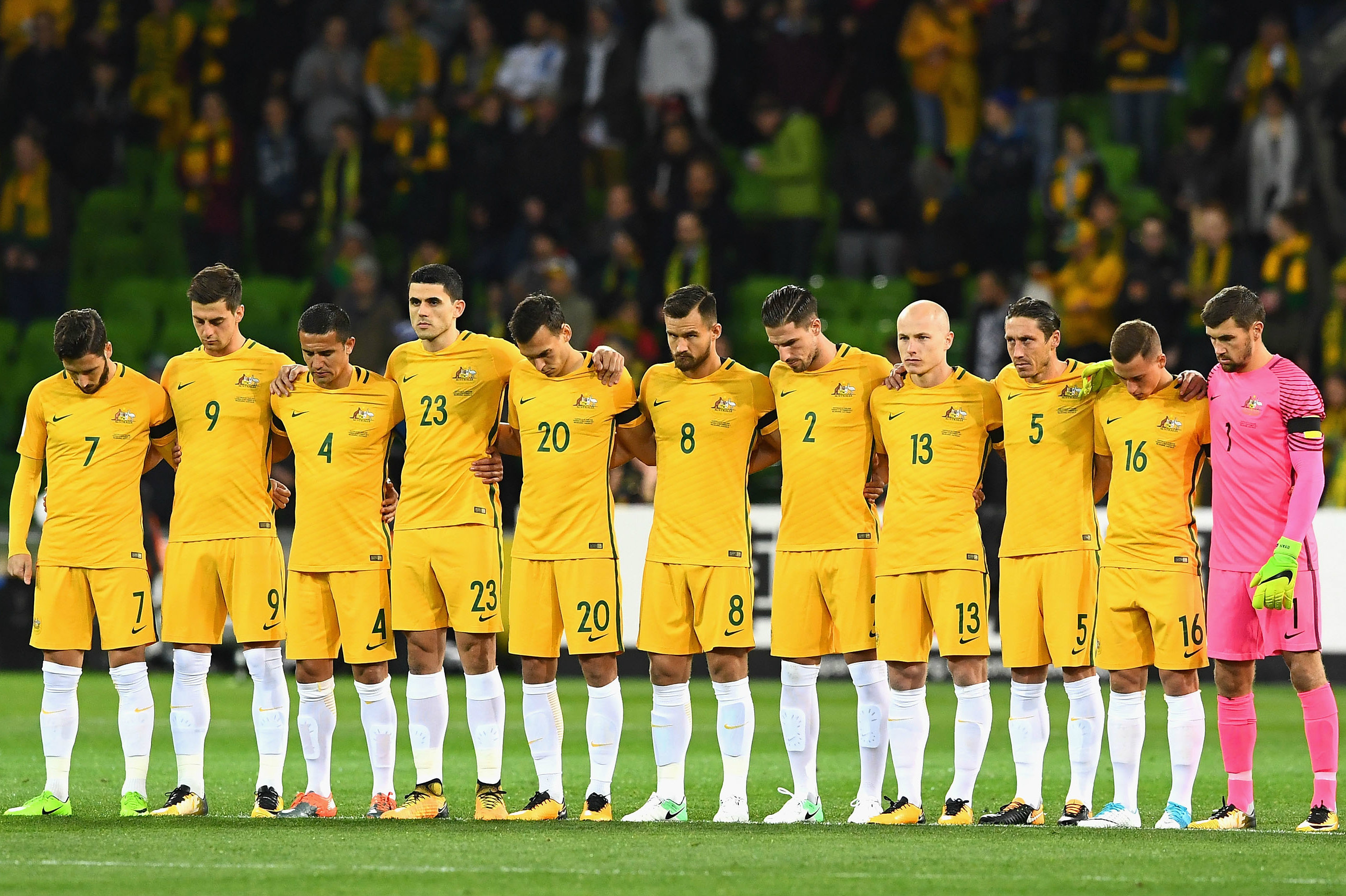The Caltex Socceroos starting XI against Thailand in Melbourne.