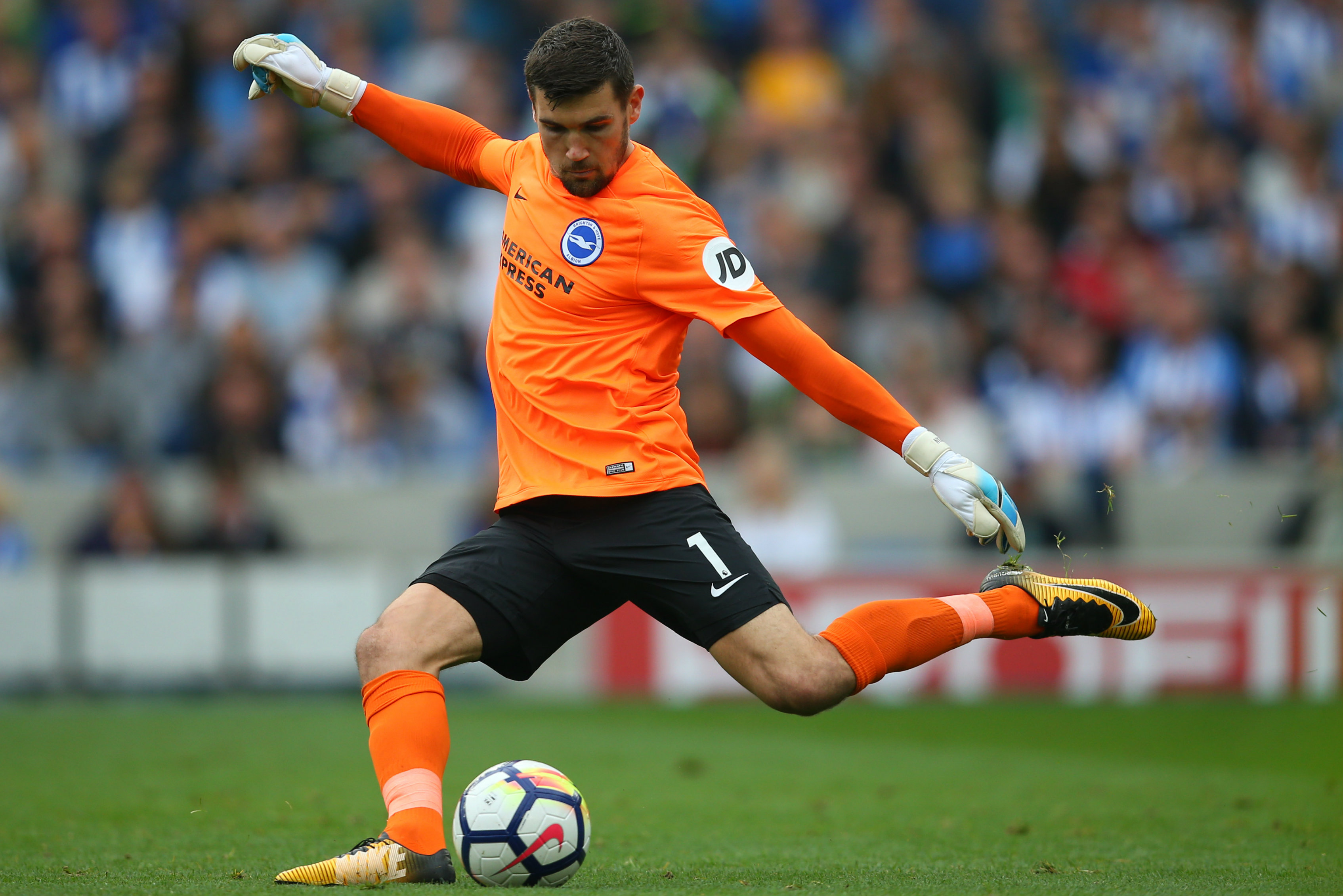 Mat Ryan has kept three clean sheets from nine EPL games this season.