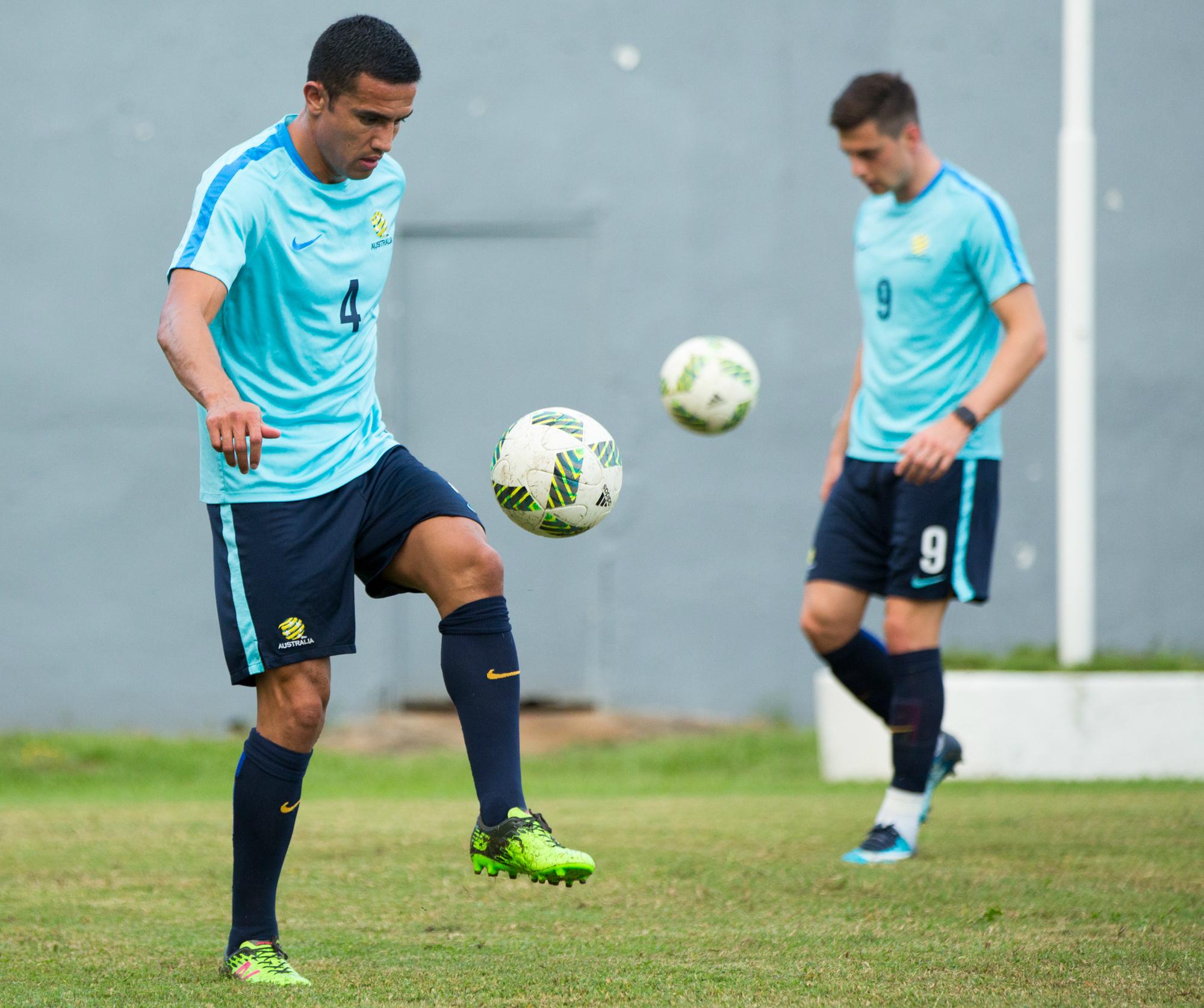 Tim Cahill Socceroos Training