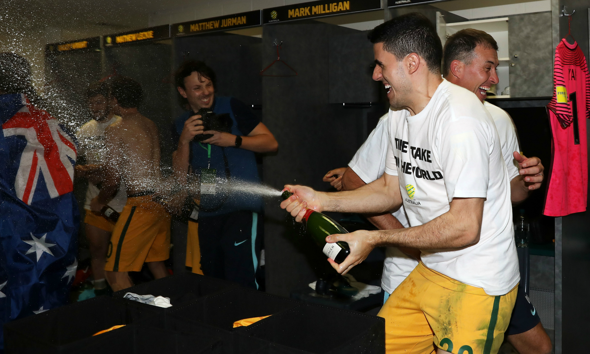 Tom Rogic champagne