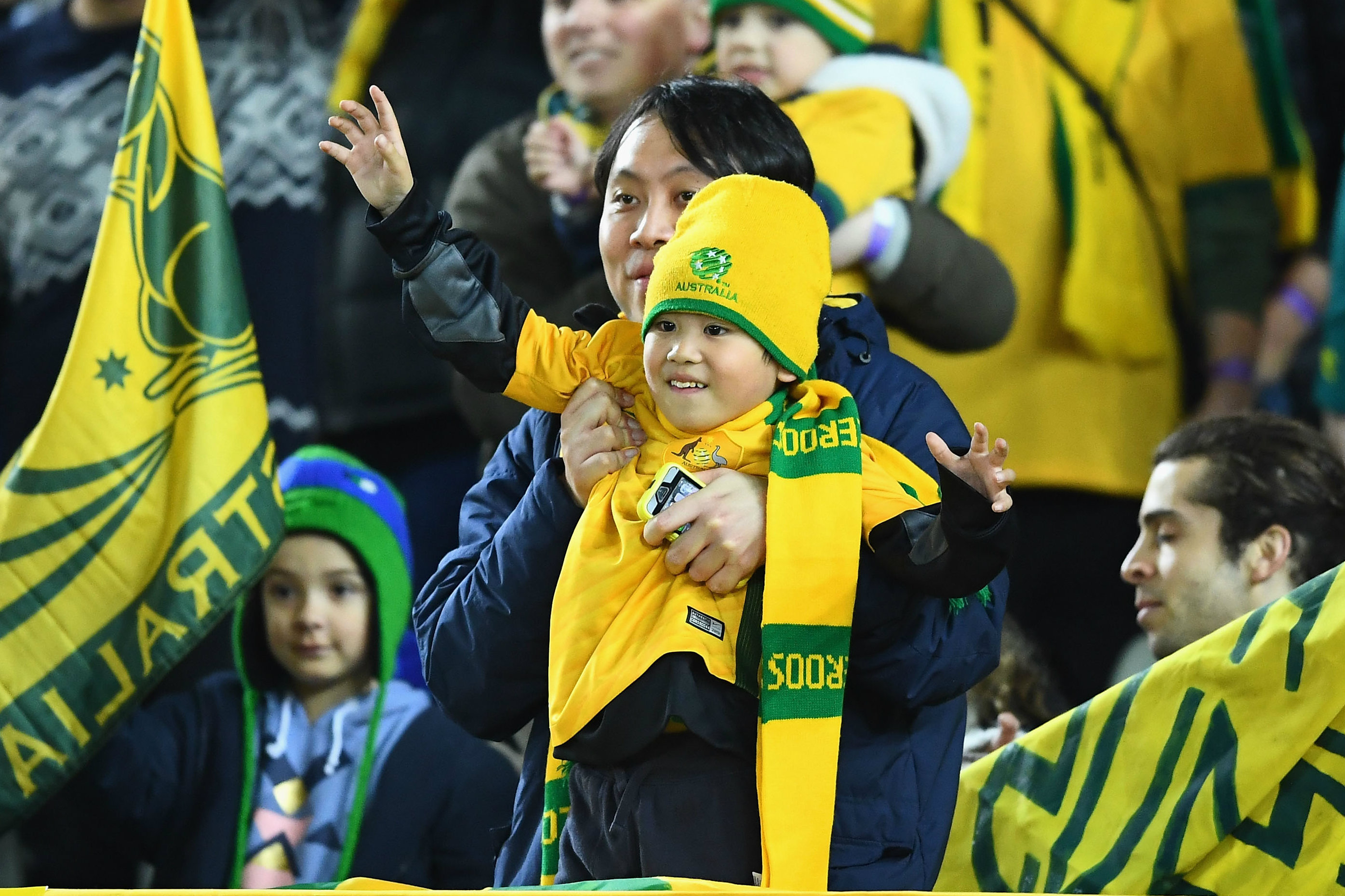 Young Socceroos fan