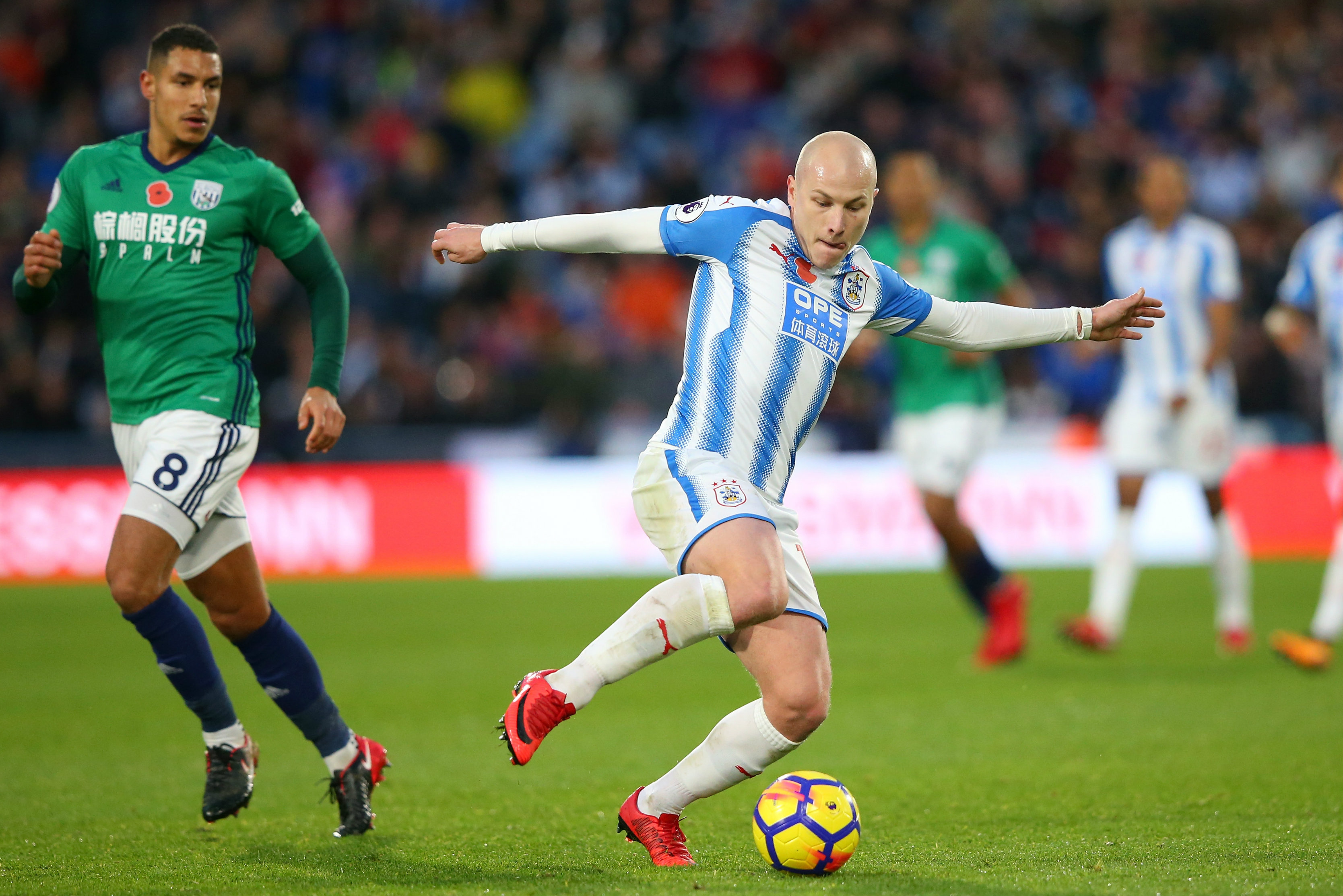 Aaron Mooy on the ball in Huddersfield's win over West Brom.