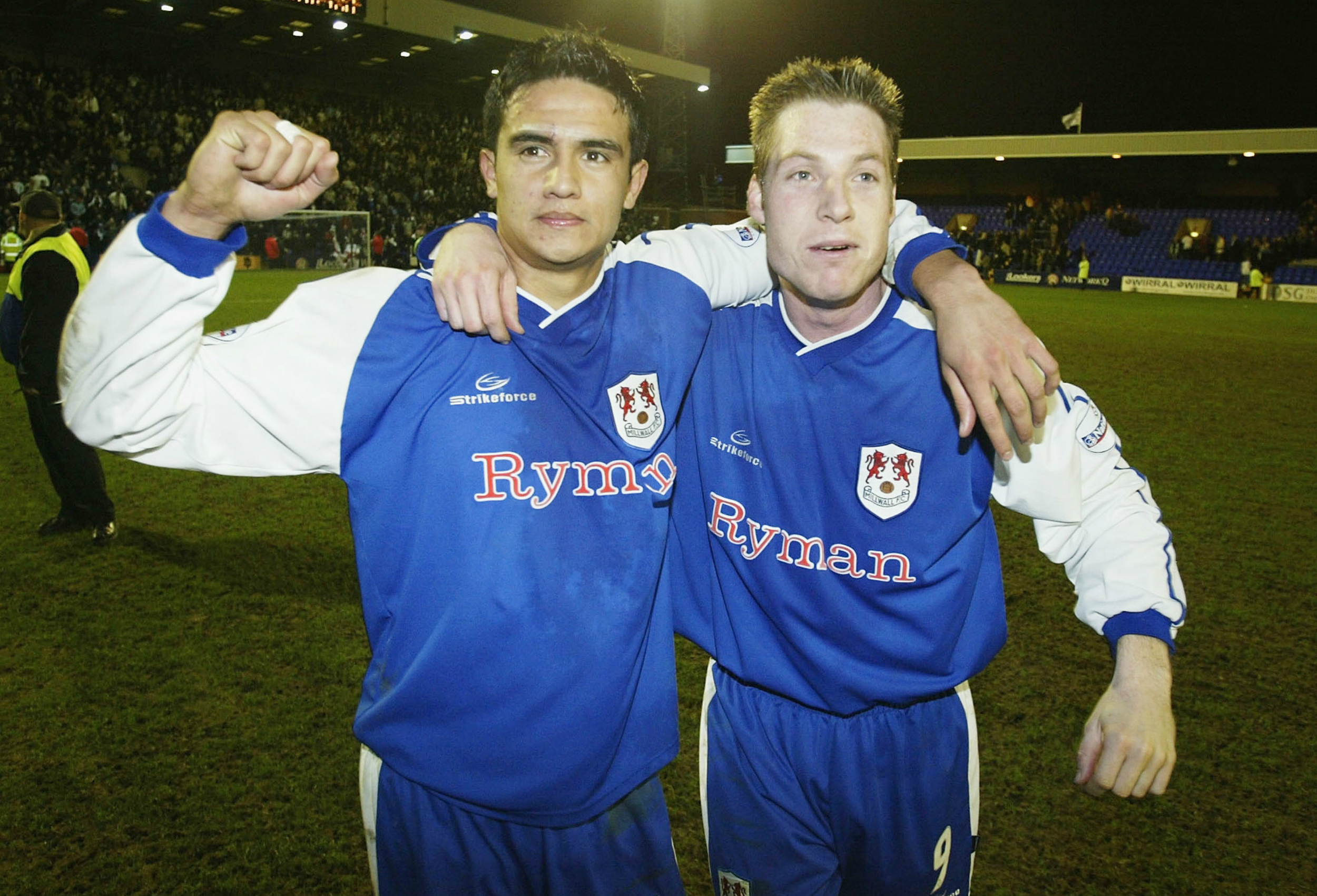 Tim Cahill and Neil Harris