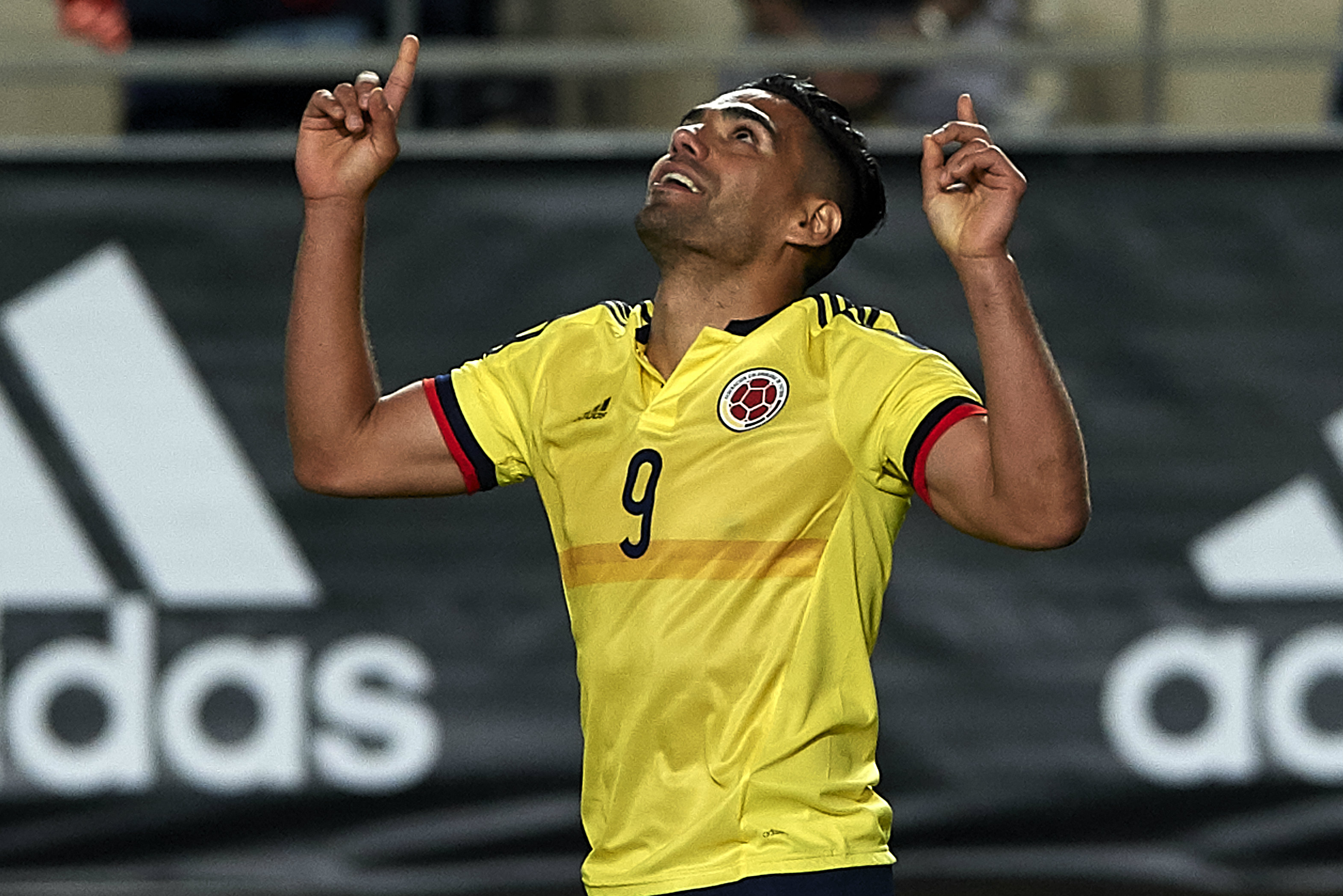 Striker Radomel Falcao is a key man for the Colombians.