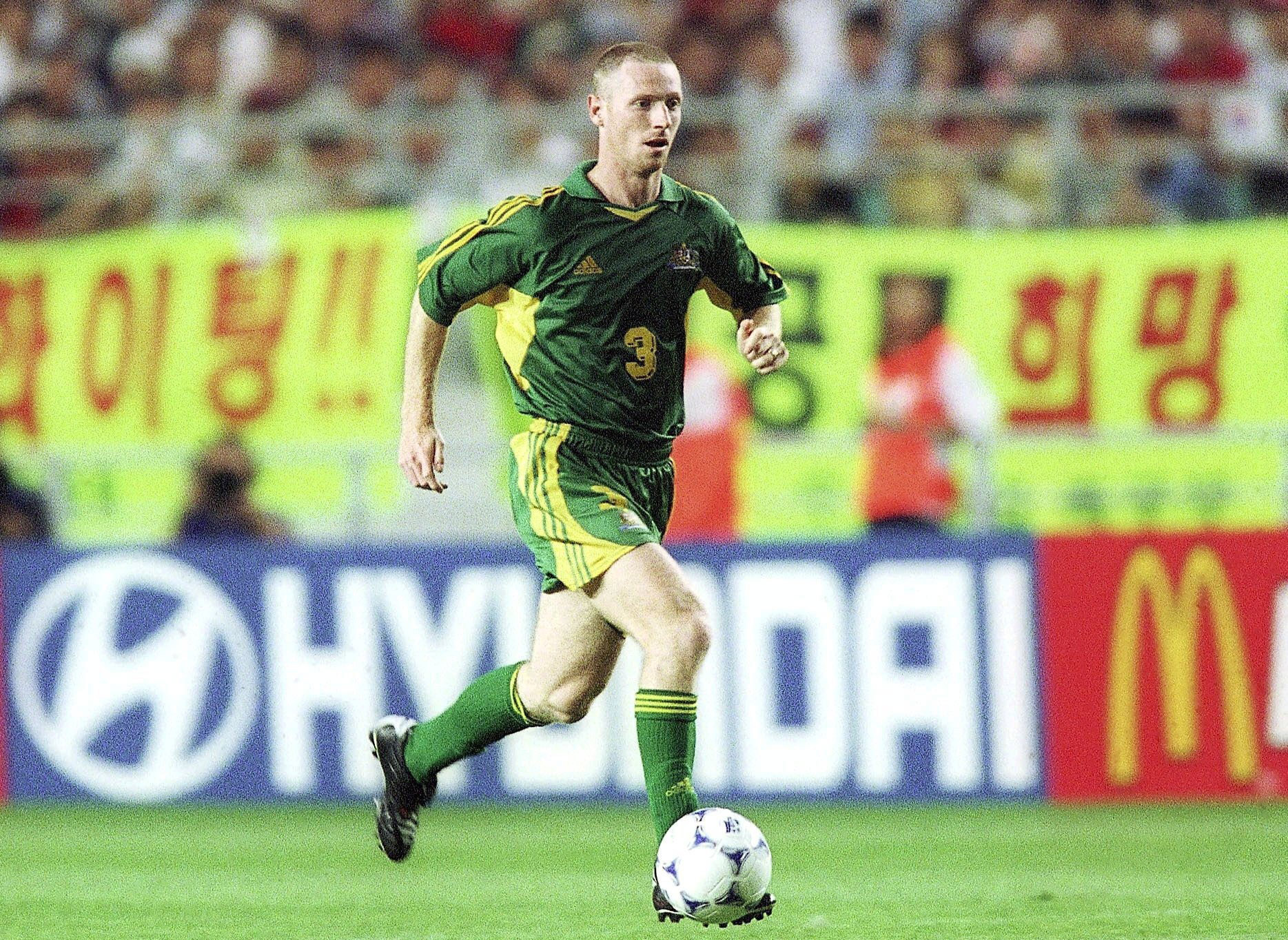 Craig Moore scored in Australia's 3-0 win over Hungary in 2000.