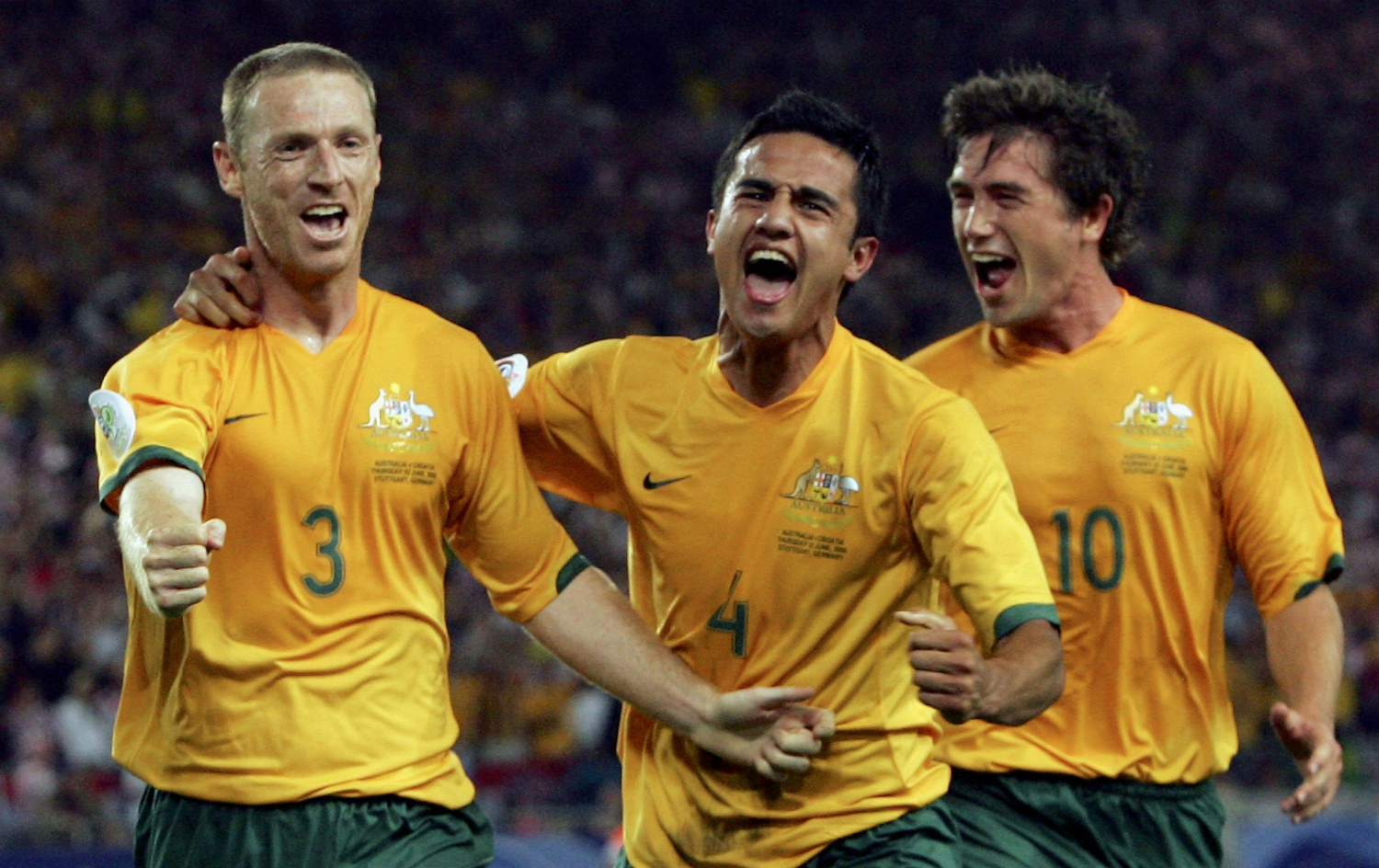 Craig Moore Tim Cahill and Harry Kewell