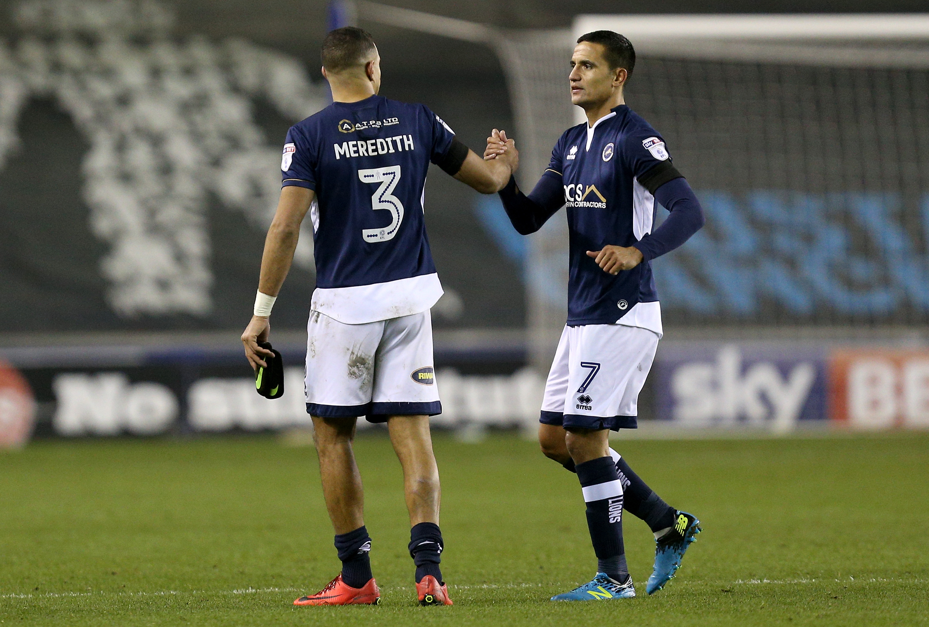 Tim Cahill and James Meredith for Millwall