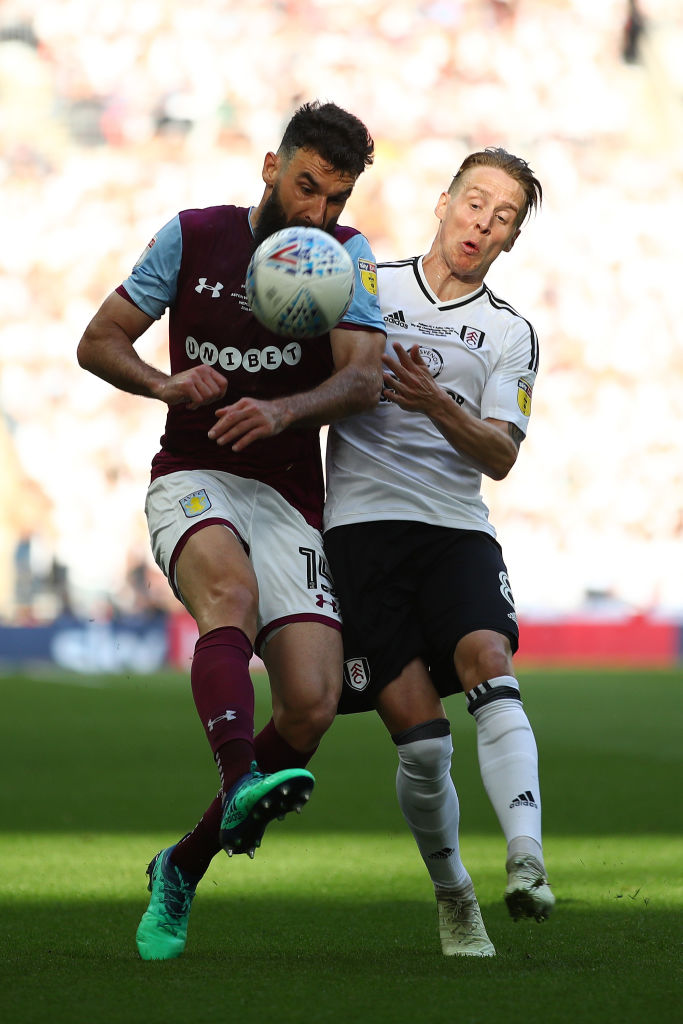 Mile Jedinak in action in the Championship play-off final