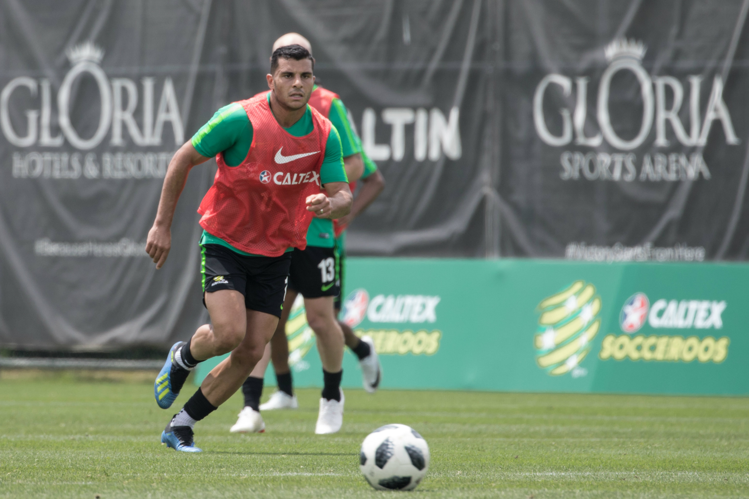 Andrew Nabbout caught the eye during a full-scale game at the end of training.