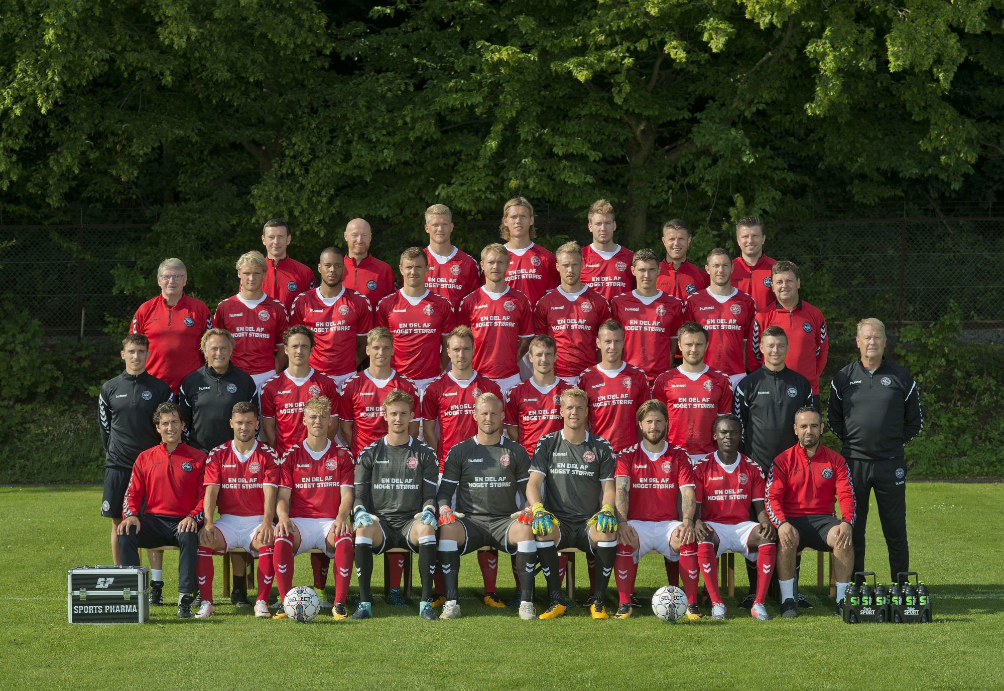 Denmark's 23-man FIFA World Cup squad. Picture source: @DBUfodbold