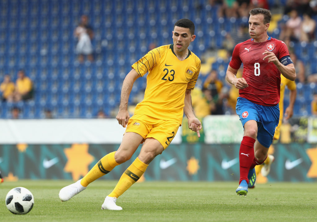 Tom Rogic in action against the Czech Republic