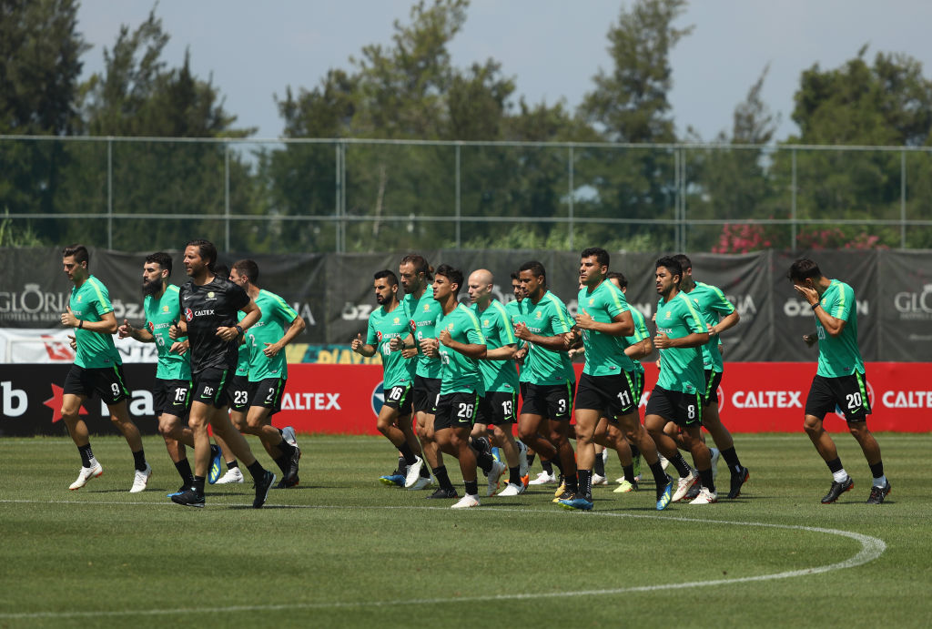 Socceroos in Turkey, training