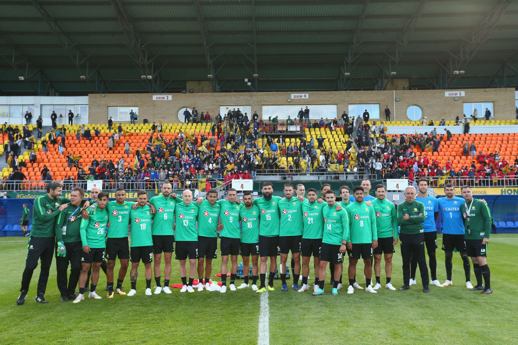 Socceroos in Kazan open training