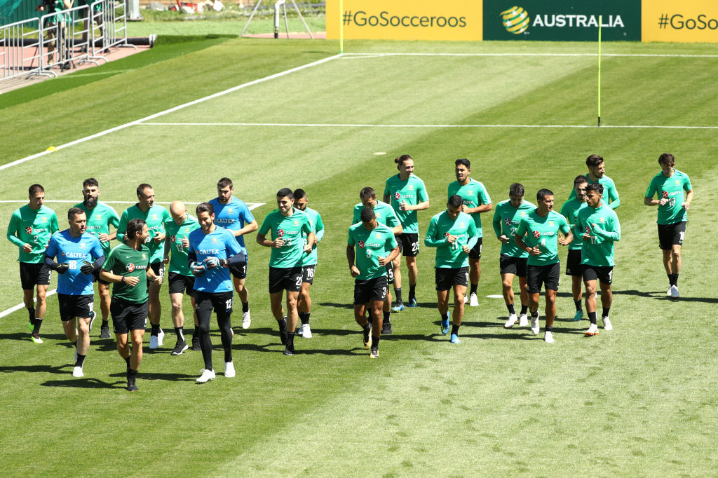 Socceroos players recover after France game