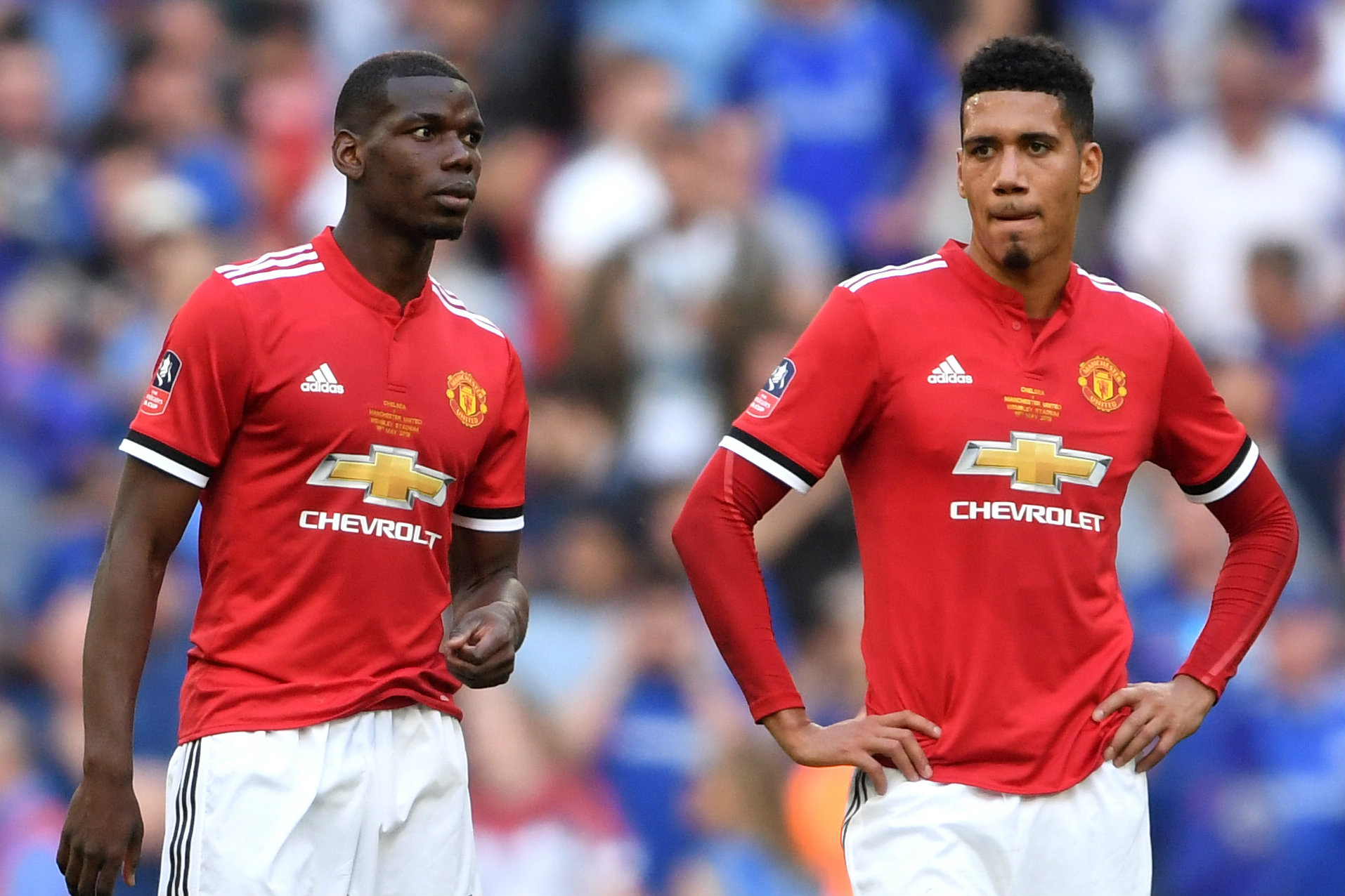 France Manchester United Paul Pogba Chris Smalling
