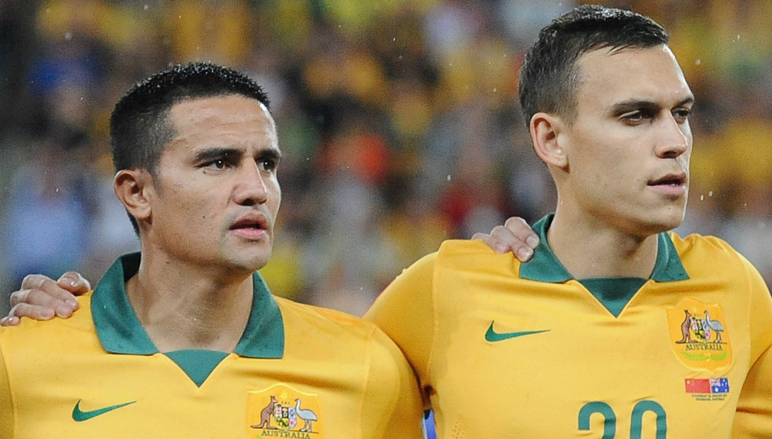 Tim Cahill and Trent Sainsbury