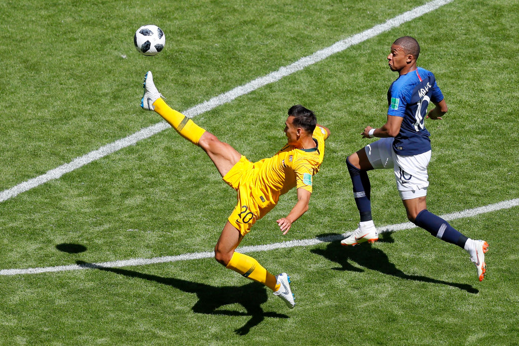 Trent Sainsbury in action at the 2018 FIFA World Cup against France