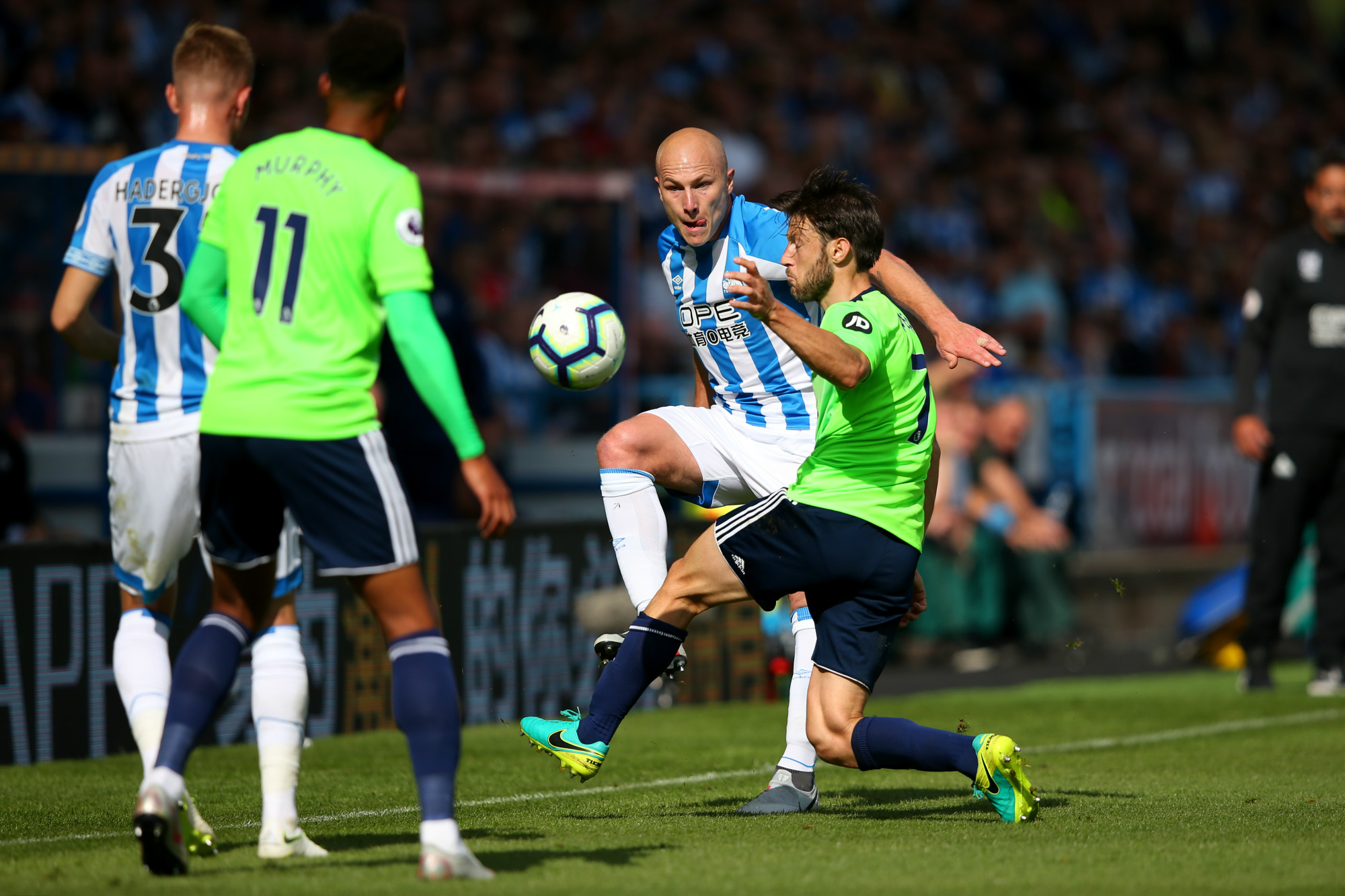 Mooy battles hard against Cardiff City