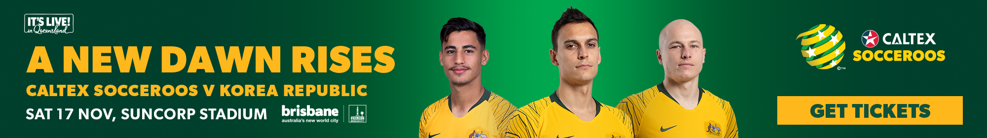 Secure your Caltex Socceroos tickets!
