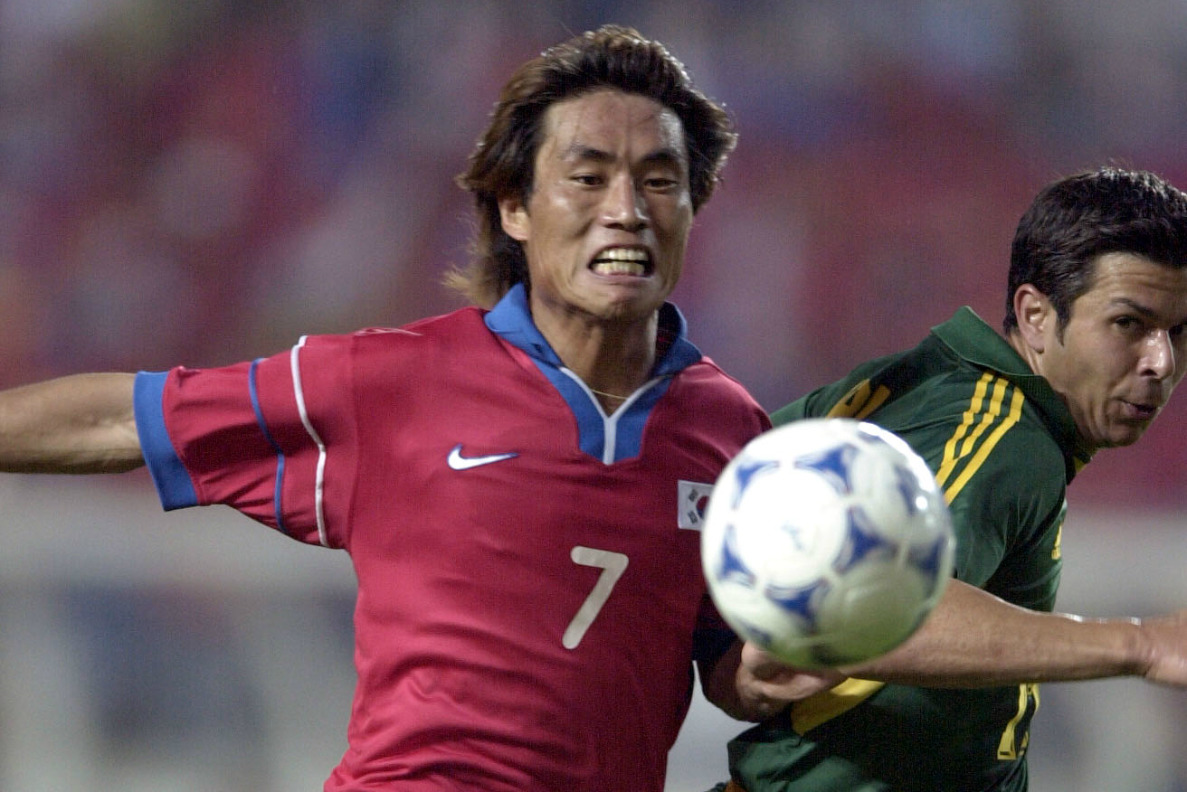 Korea edged out the Socceroos 1-0 at the 2001 Confederations Cup.