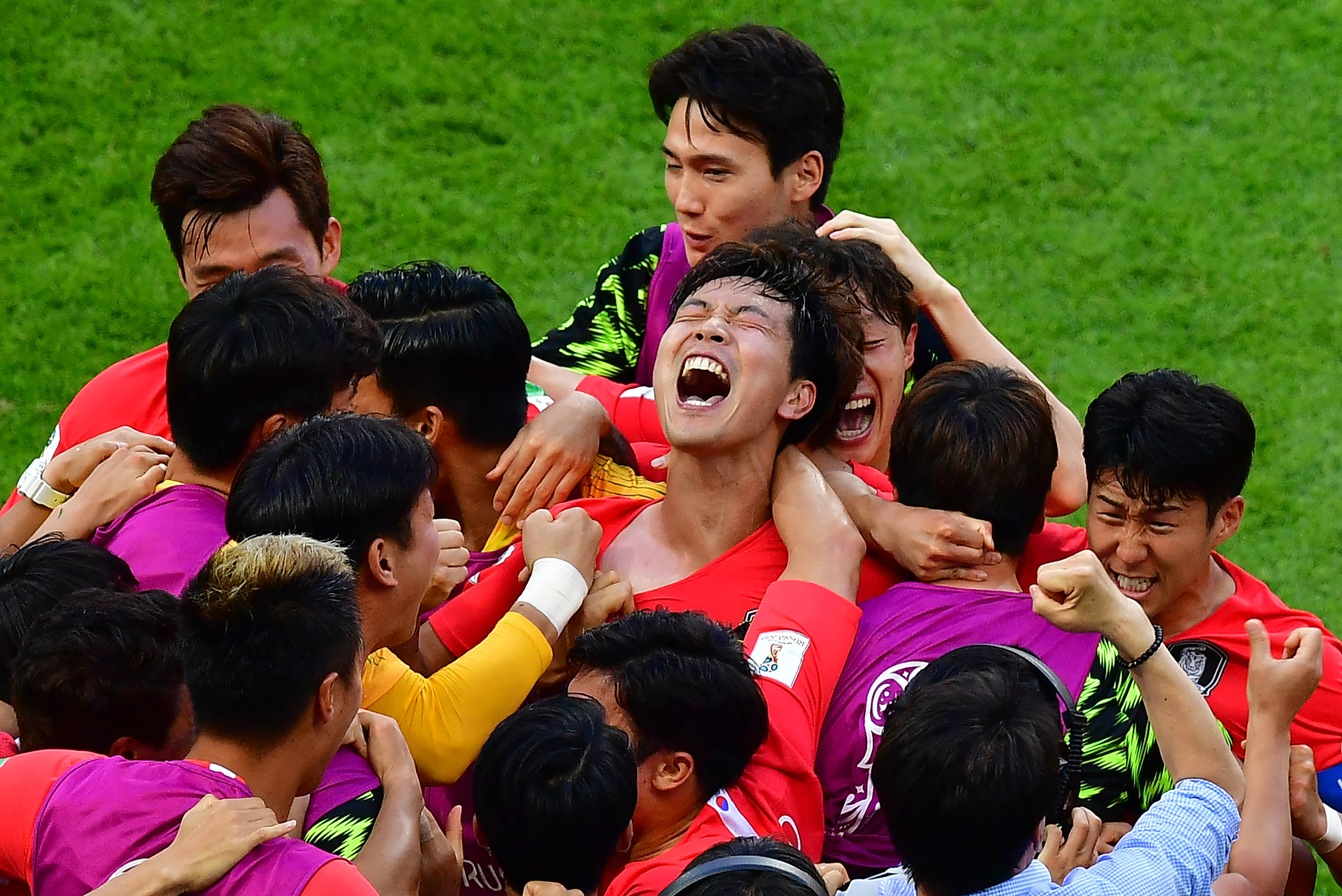 Korea players celebrate