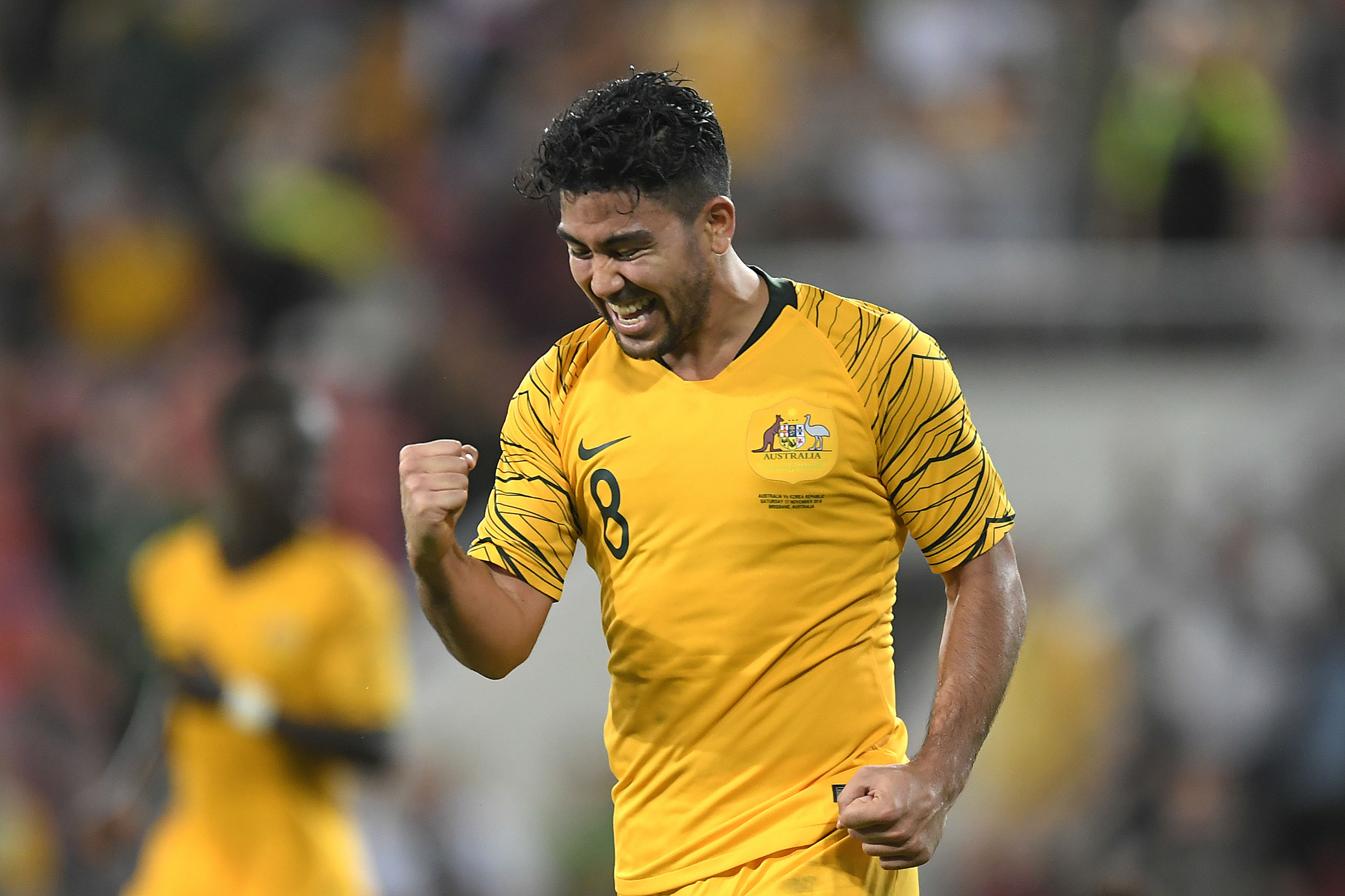 ec4b1e601 Mabil saw his effort on goal blocked by a desperate piece of Korea Republic  defending as Australia continued to pepper Kim Seung-yu s goal late on