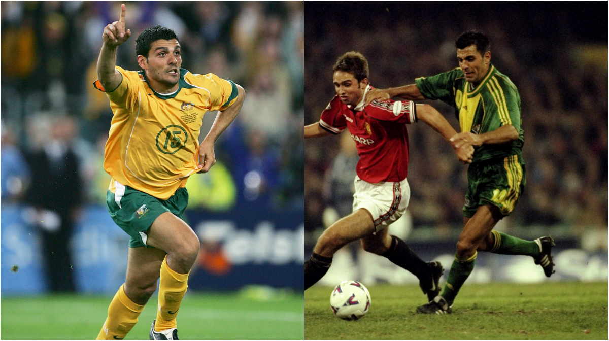 John and Ross Aloisi playing for the Caltex Socceroos