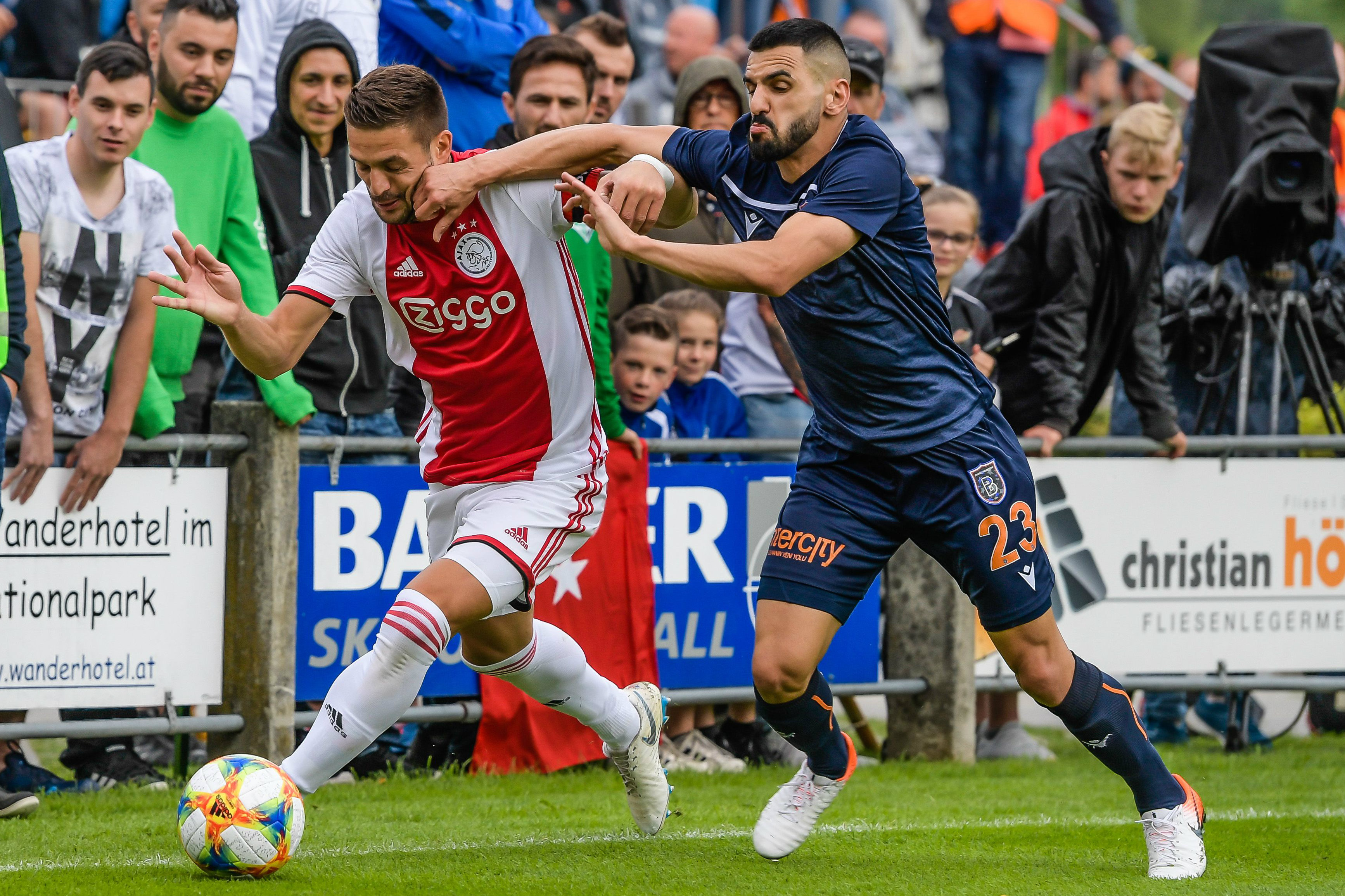 Aziz Behich in action against Ajax during a recent pre-season friendly