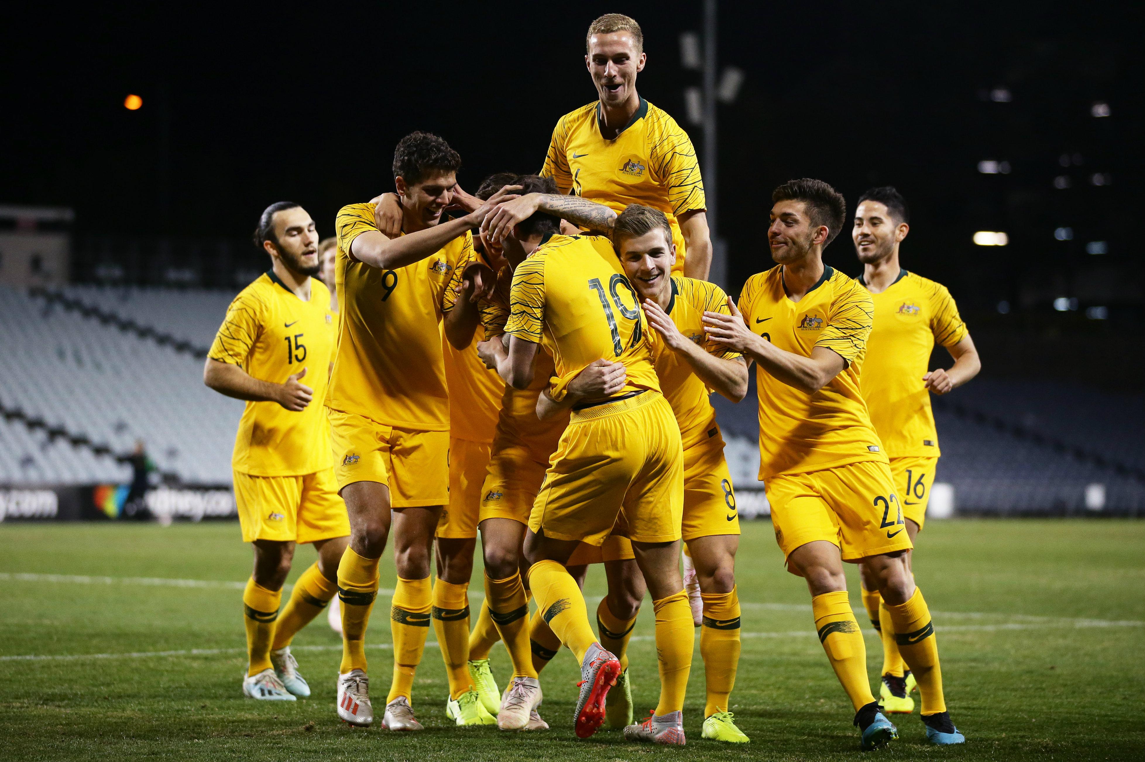 Australia U-23 celebrate