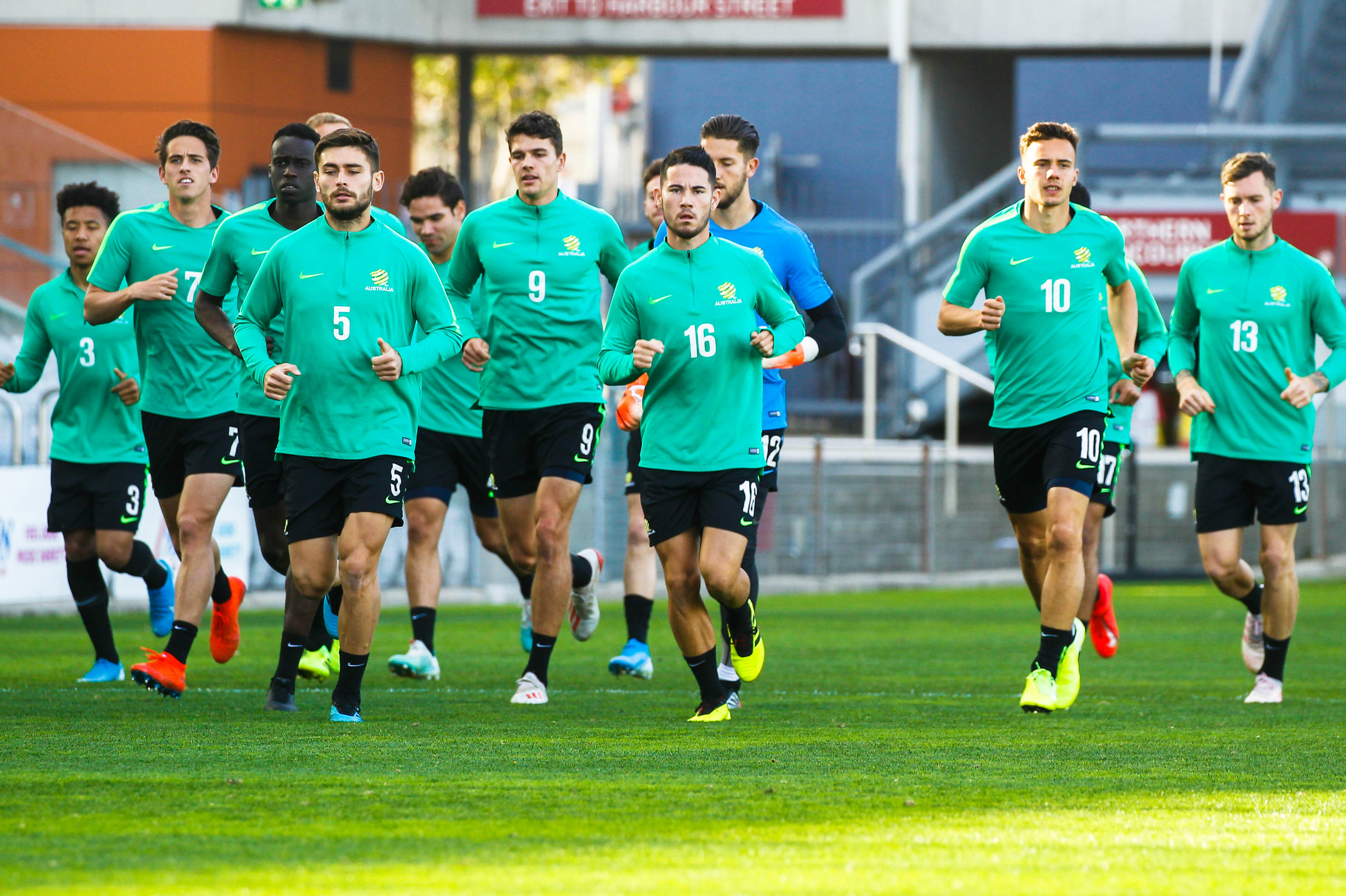 Australia's U-23 squad have been working hard in preparation for the games against New Zealand