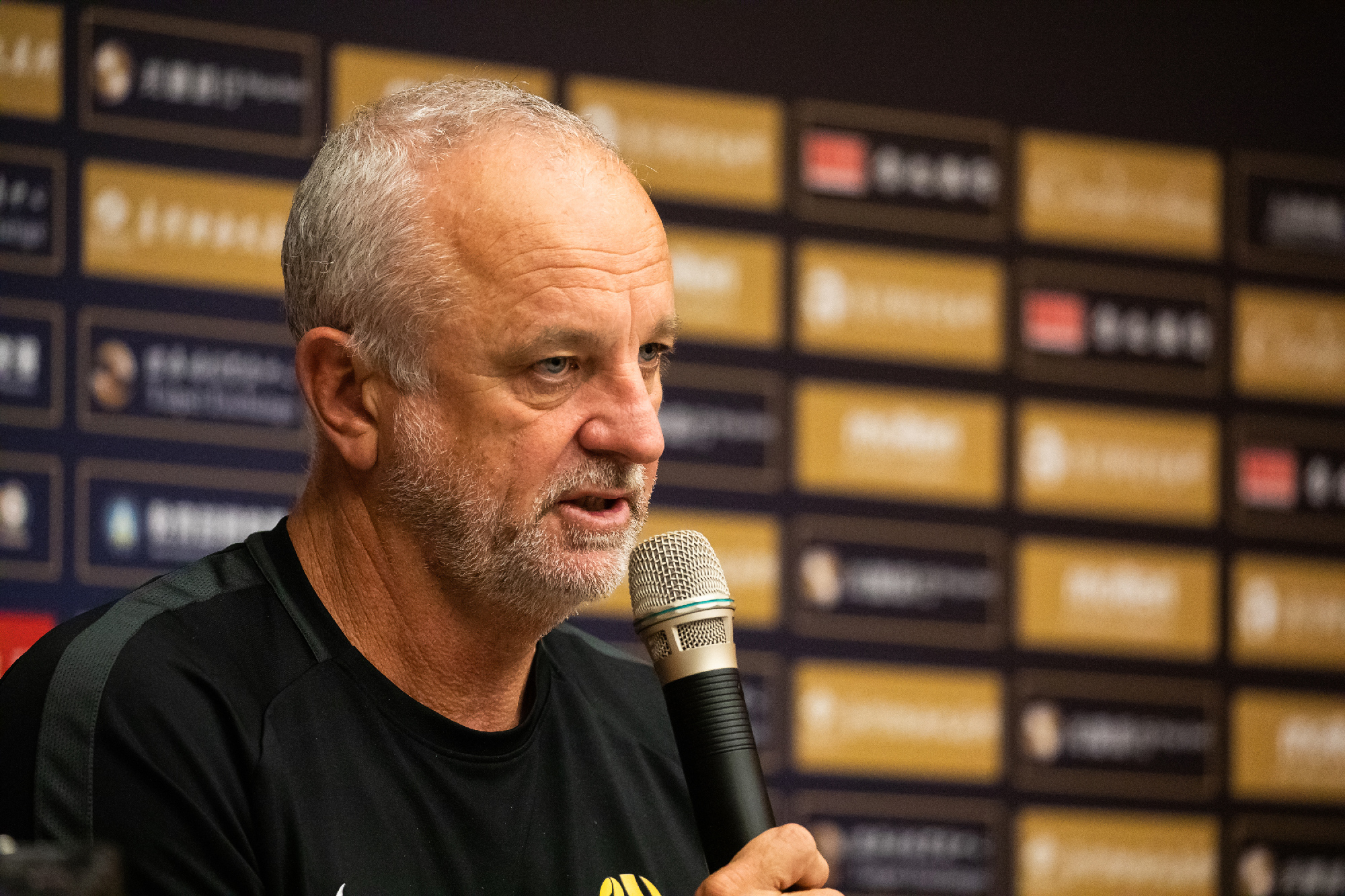 Graham Arnold at pre-match press conference