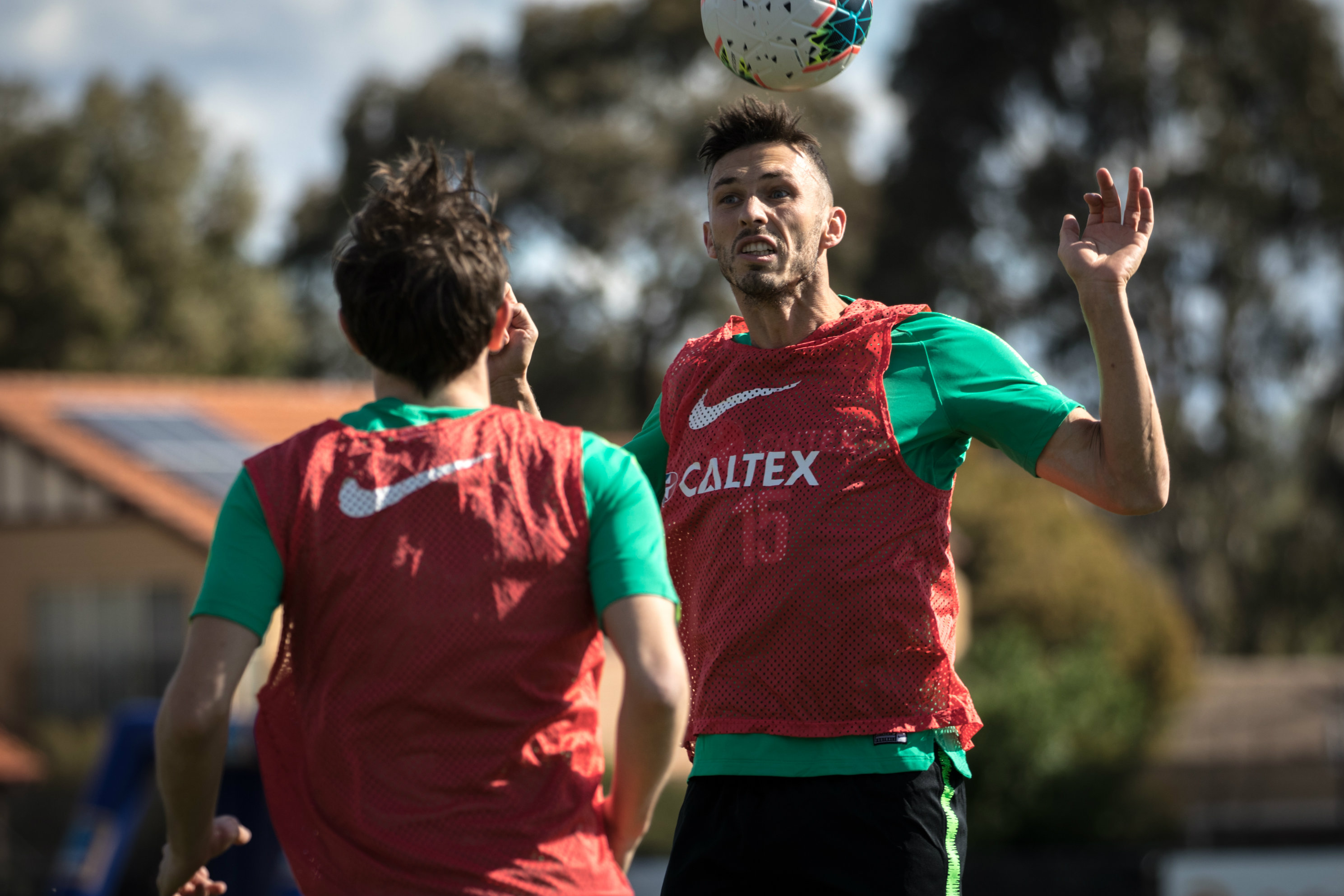 Apostolos Giannou scored in his final club match before heading to Canberra
