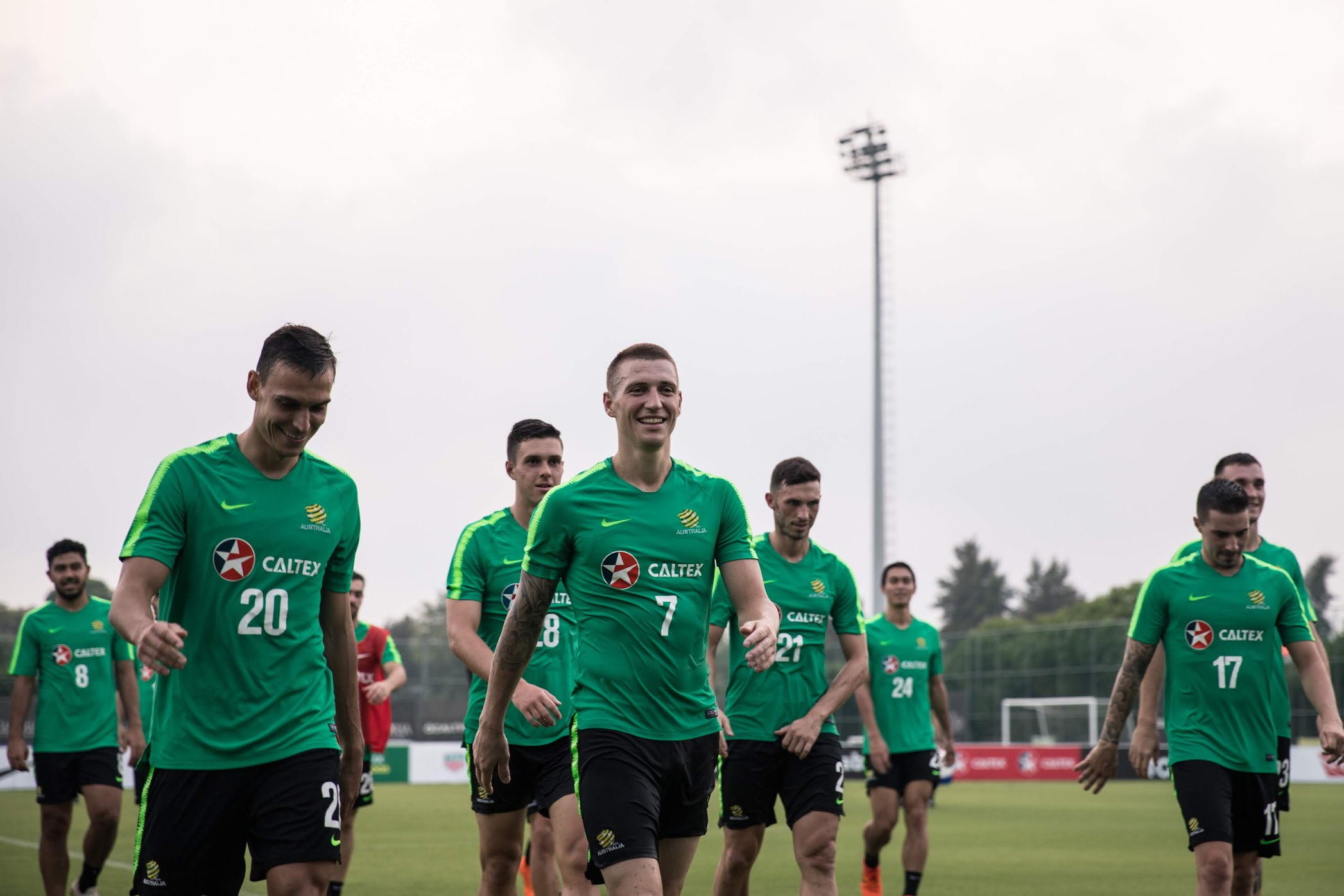 Mitch Duke training with the Caltex Socceroos