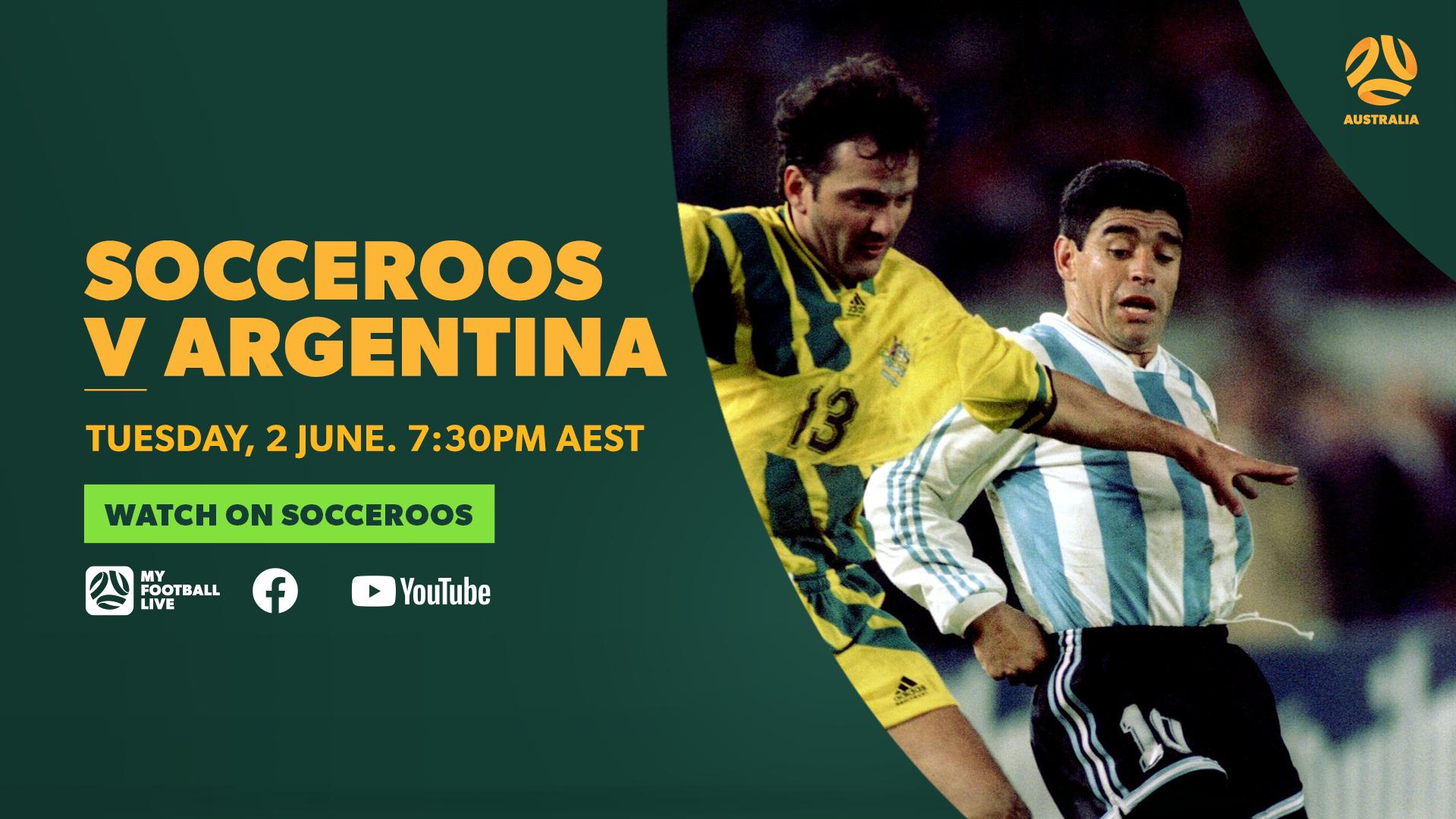 Match Preview Socceroos V Argentina Socceroos
