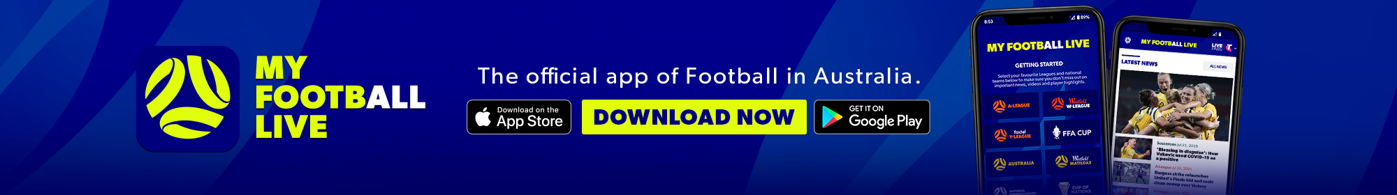 My Football Live app thin banner 2020