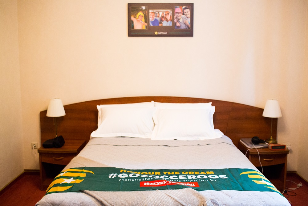 Jackson Irvine's room in Kazan