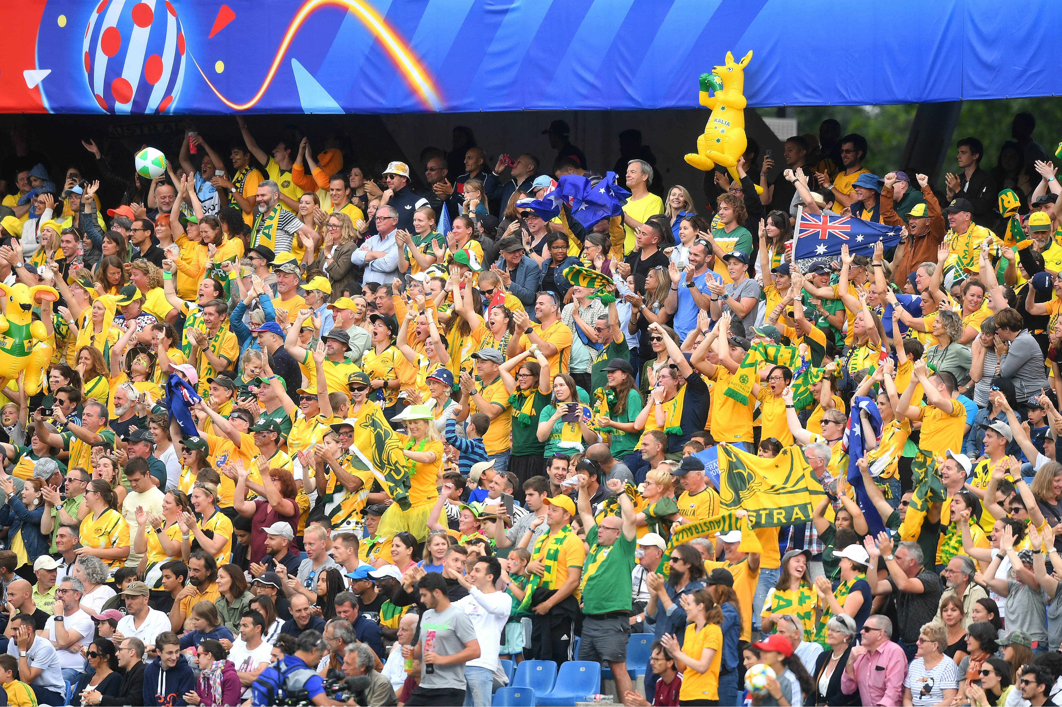 There was plenty of jubilation in the stands from Matildas fans as well