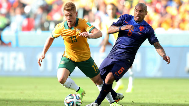 Oliver Bozanic against the Netherlands at the World Cup.