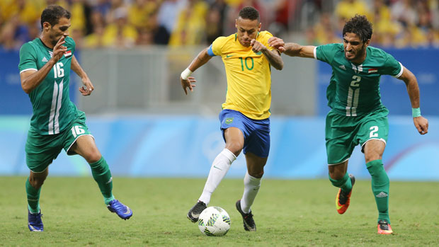 Iraq held Neymar's Brazil to a credible draw at the Games.