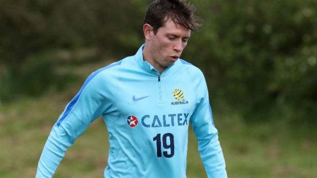 Craig Goodwin in camp with the Caltex Socceroos.