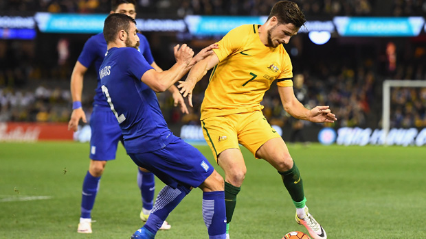 The Caltex Socceroos were edged 2-1 by Greece at Etihad Stadium on Tuesday night.