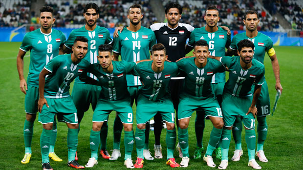 The Iraq starting XI against South Africa in Rio.
