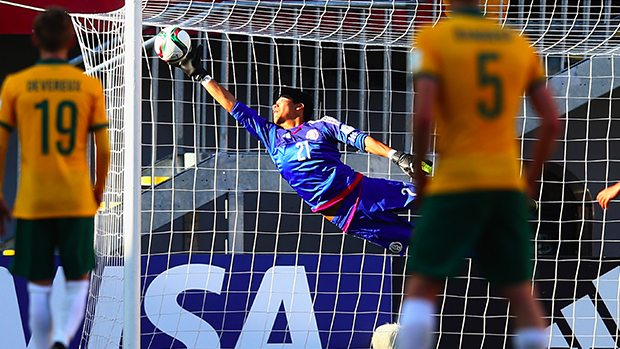 Abraham Romero pulls off a ridiculous save to deny Australia the three points.