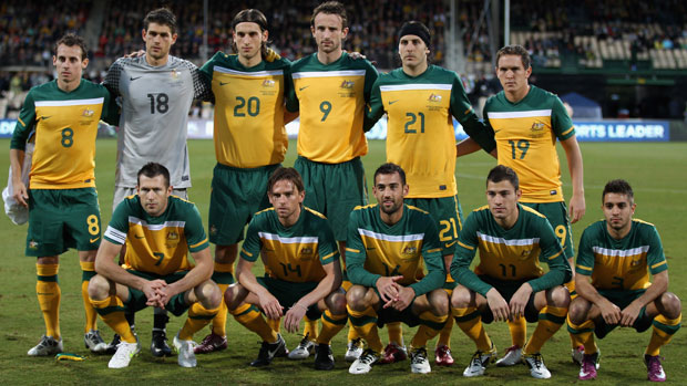 The starting XI against New Zealand at the Adelaide Oval in 2011.