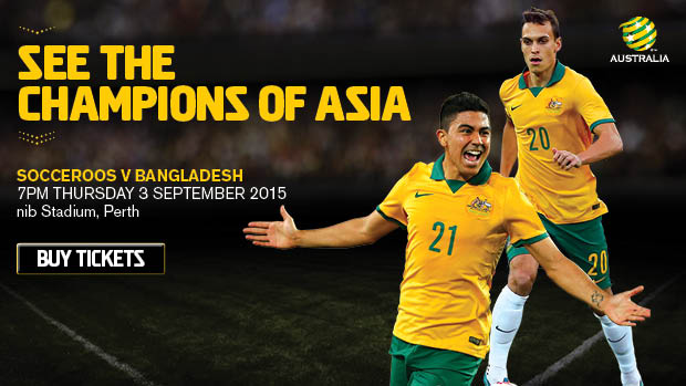 The Socceroos will play Bangladesh in their first home qualifier for Russia 2018.