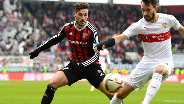 Mat Leckie netted in his side's thrilling 3-3 draw in the Bundesliga overnight.