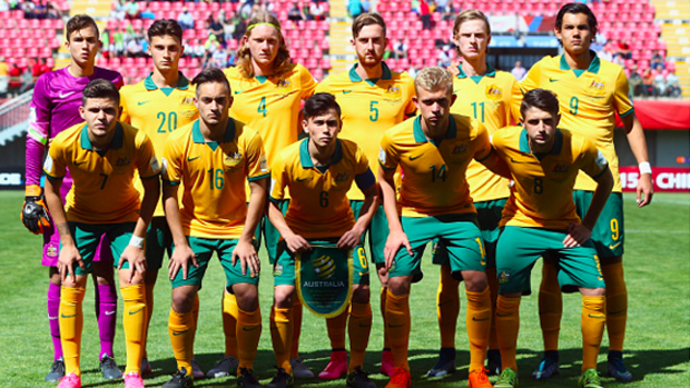The Joeys line up before their game against Germany