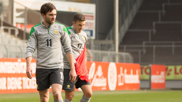 Tommy Oar will be hoping for a start against Germany